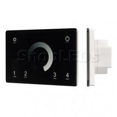Панель Sens SMART-P79-DIM Black (230V, 4 зоны, 2.4G)
