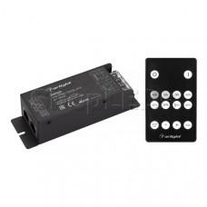 Диммер ARL-SYNC-DIM Black (12-24V, 1x25A, ПДУ 14кн, RF, RJ45) (Arlight, IP20 Металл, 3 года)