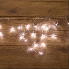 Гирлянда Айсикл (бахрома) светодиодный, 1,8 х 0,5 м, прозрачный провод, 220В, диоды белые